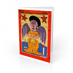 """Angel (Vodu Banner)"" Greeting Card, artwork by George Valris"