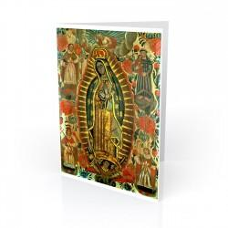 """Nuestra Senora de Guadalupe (Virgin of Guadalupe)"" Greeting Card, artwork by Retablo"