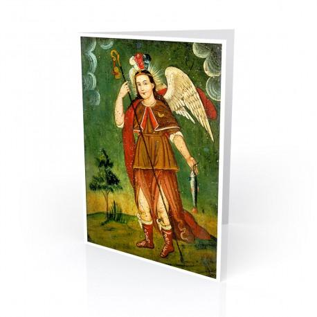 """San Rafael (St. Raphael)"" Greeting Card, artwork by Retablo"