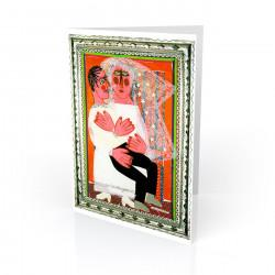 """Recien Casados (Just Married)"" Greeting Card, artwork by Rodolfo Morales"