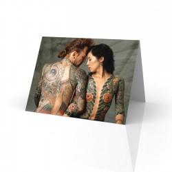 """Bill & Junko"" Greeting Card, Tattoo Artcard"