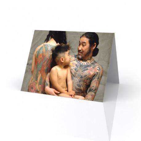 """Nakano Family"" Greeting Card, Tattoo Artcard"