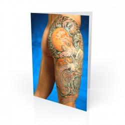 """Octopus"" Greeting Card, Tattoo Artcard"