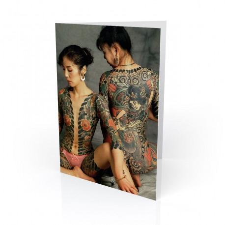 """""""Sochiko & Junko"""" Greeting Card, Tattoo Artcard"""