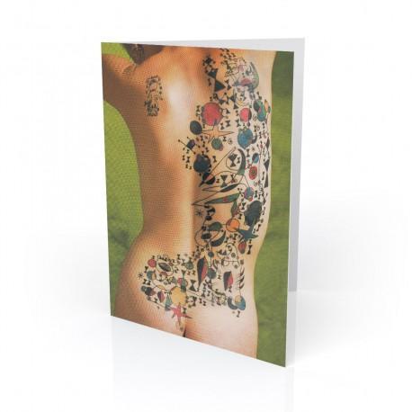 """""""Miro"""" Greeting Card, Tattoo Artcard"""