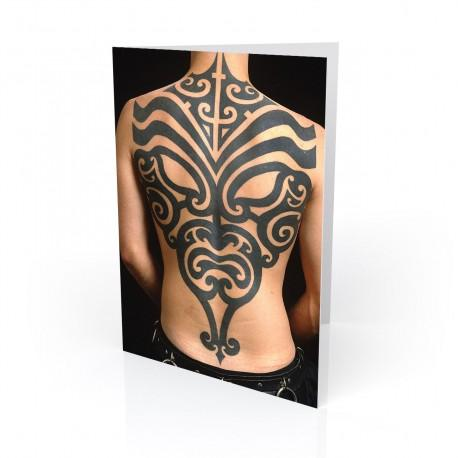 """Tribal Mask"" Greeting Card, Tattoo Artcard"