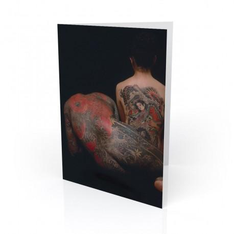 """Peter & Toyomi"" Greeting Card, Tattoo Artcard"