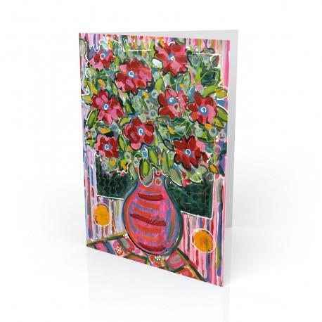 """""""Electric Floral's #2"""" Greeting Card, artwork by Tony DiAngelis"""