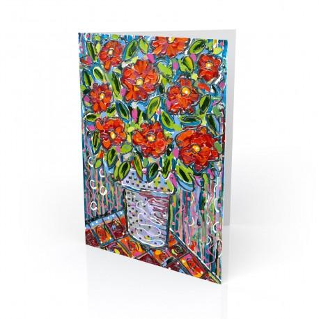 """Electric Floral's #3"" Greeting Card, artwork by Tony DiAngelis"
