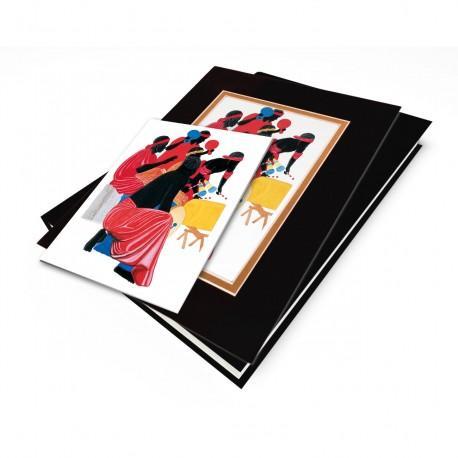 """African Drummers"" Gift Set, artwork by Edwin Harris"