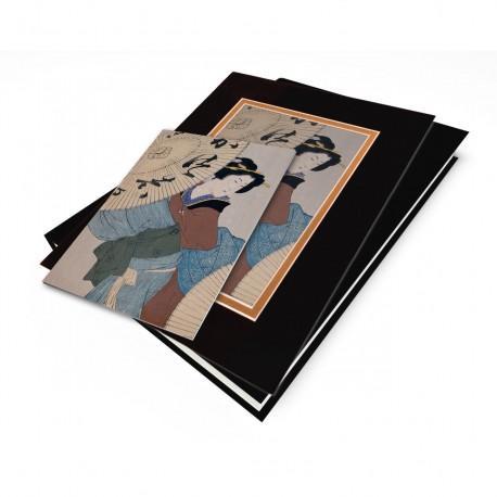 """Woman with Umbrella"" Japanese Wood Block Print"