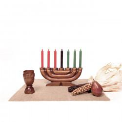 Kwanzaa Kit Style B, with Hand-Carved Unity Cup