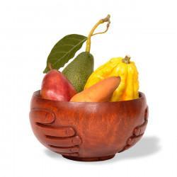 Hand Carved Harvest Bowl: