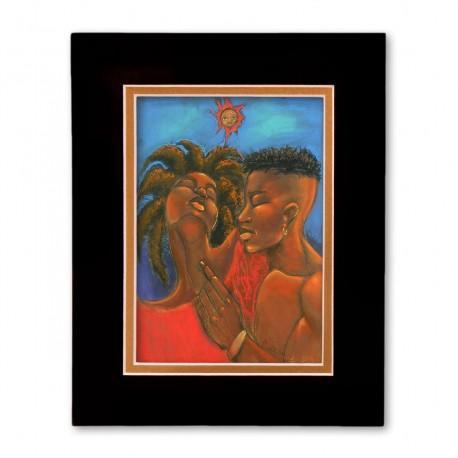 """Dred Love"" Matted Print, art by Carlos Spivey"