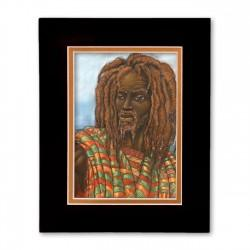 """One with Jah"" Matted Print, art by Carlos Spivey"