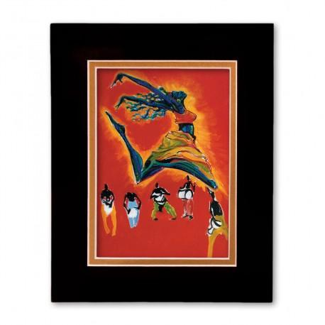 """Nazinga"" Matted Print, art by Carlos Spivey"