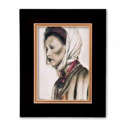 """Indigenous"" Matted Print, art by Carlotta Swain-Ward"