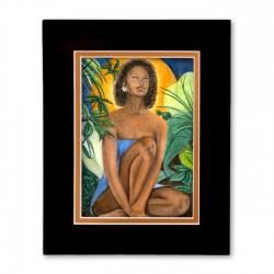 """Native Flower"" Matted Print, art by Carlotta Swain-Ward"