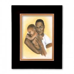 """Precious Moments"" Matted Print, art by Carlotta Swain-Ward"