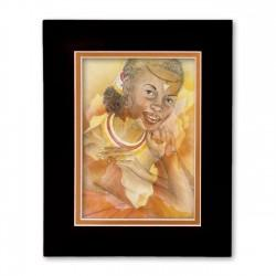 """Warmth of Africa"" Matted Print, art by Carlotta Swain-Ward"