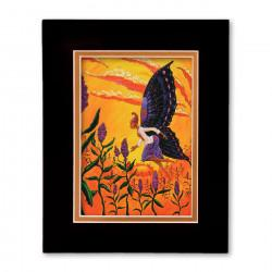 """""""Azza's Dream"""" Matted Print, art by Carlos Spivey"""