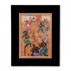 """The Dance Collective"" Matted Print, art by Carlos Spivey"