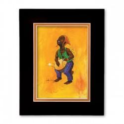 """Young Famadu"" Matted Print, art by Carlos Spivey"