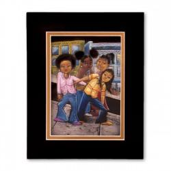 """Frisco Girls"" Matted Print, art by Carlos Spivey"