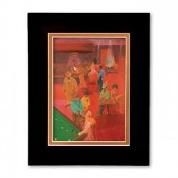 """The Burgundy Room"" Matted Print, art by Carlos Spivey"