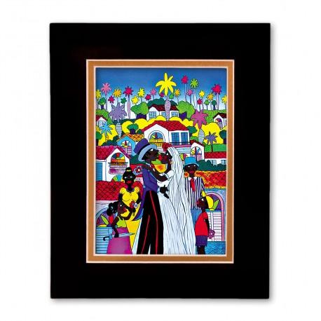"""The Wedding Kiss"" Matted Print, art by Juan Fransisco"