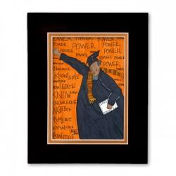 """Power is Knowledge"" Matted Print, art by Aileen Ishmael"