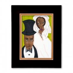 """Matrimony"" Matted Print, art by Aileen Ishmael"