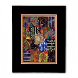 """Nubian Afghan 2"" Matted Print, art by Charles Grant"