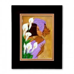 """Lilys"" Matted Print, art by Dexter Griffin"