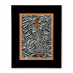 """Zebra Inspired"" Matted Print, art by Dexter Griffin"