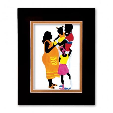 """""""Love and Affection"""" Matted Print, art by Edwin Harris"""