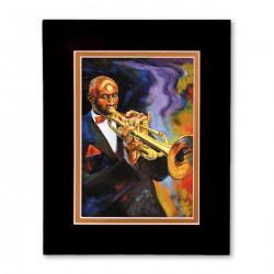 """Cool Jazz"" Matted Print, art by George Bernard III"