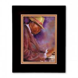 """""""He's Got Chops"""" Matted Print, art by George Bernard III"""