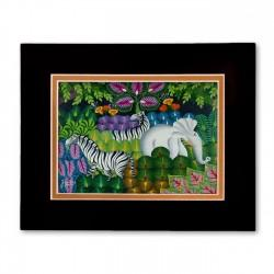 """Jungle Scene"" Matted Print, art by Joel Gautier"