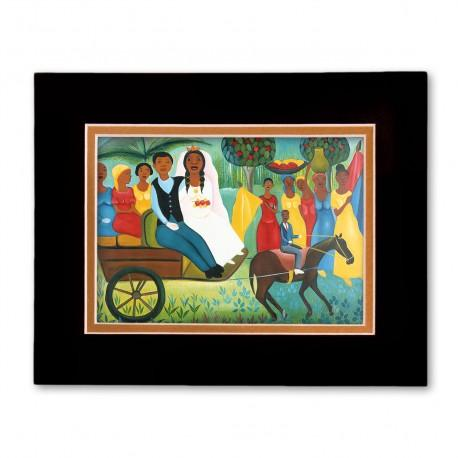 """""""Carriage Wedding"""" Matted Print, art by Fritzner Alfonse"""