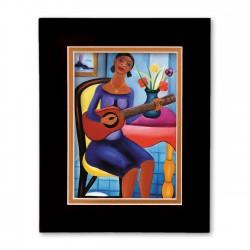 """Guitar Player"" Matted Print, art by Fritzner Alfonse"