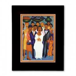 """Garden Wedding"" Matted Print, art by Fritzner Alfonse"