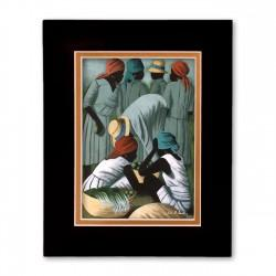 """Market Scene"" Matted Print, art by Claude Dambreville"