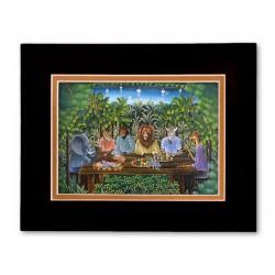"""The Magical Dinner"" Matted Print, art by Jean Claude Blanc"