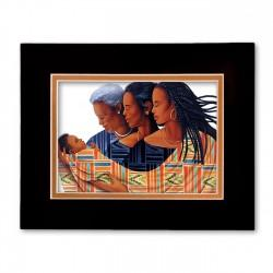 """Generations-Circle of Love"" Matted Print, art by Keith Mallet"