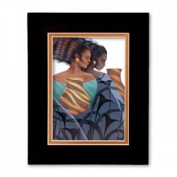 """Sisters"" Matted Print, art by Keith Mallet"