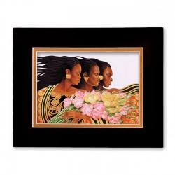 """Three Sisters"" Matted Print, art by Keith Mallet"