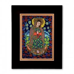 """Our Lady of Guadalupe"" Matted Print, art by Hector Guerra"