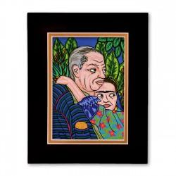 """Diego & Frida"" Matted Print, art by Hector Guerra"