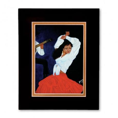 """Flamenca Dance"" Matted Print, art by Georgi"